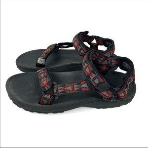 Teva Black Grey Red Unisex Sandals Size M5/W7-8